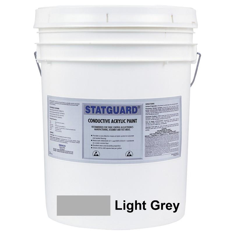 46051-PAINT, STATGUARD, CONDUCTIVE, LATEX, LIGHT GREY 5 GAL